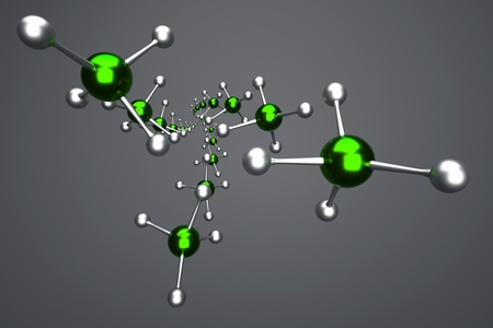 a molecules background on grey Stock Photo - 14405313
