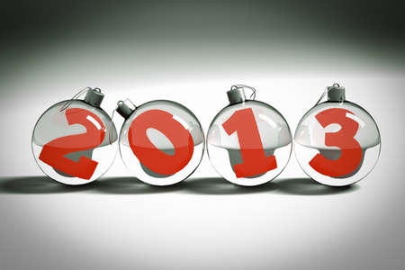 a chrismas balls with digits inside, symbol 2013 new year photo