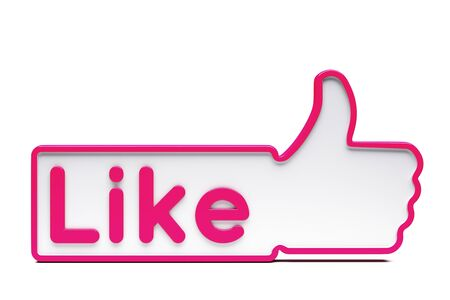 sign up button: a  Like sign on white Stock Photo