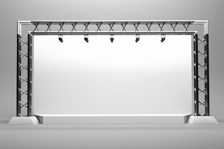 a concert stage with metal frame Reklamní fotografie