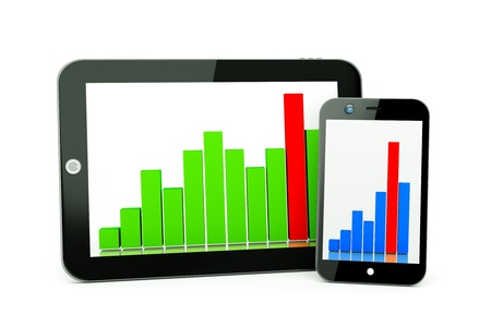 a tablet pc and business diagram as a concept of process of business development Stock Photo - 15708458