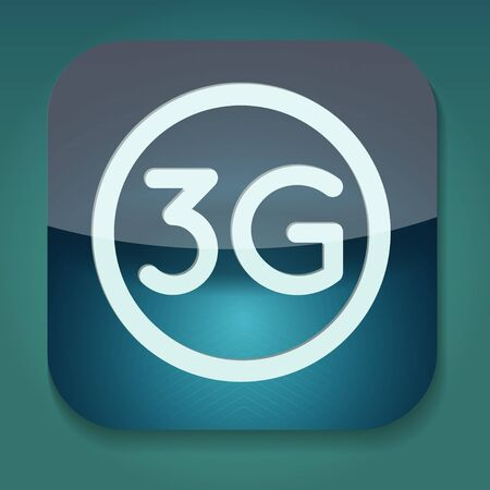 3g: a raster version of icon with word 3g