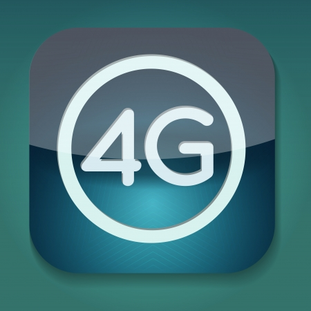 3g: a raster version of icon with word 4g