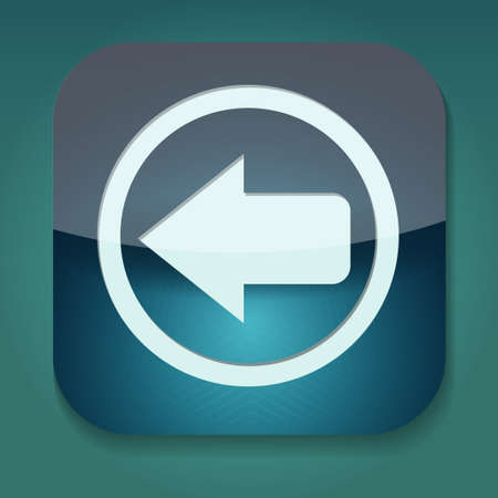 a raster version of icon with arrow inside Stock Photo - 15708450