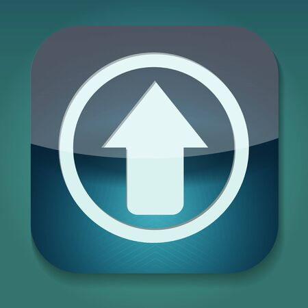 a raster version of icon with arrow inside Stock Photo - 15708451