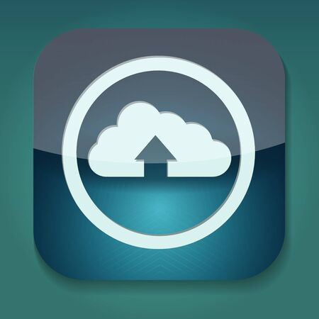 a raster version of upload icon with cloud Stock Photo - 15708453