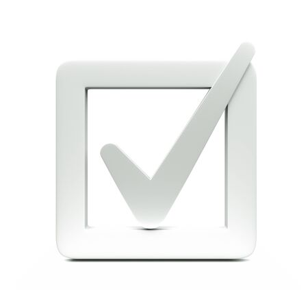 a checkbox icon isolated on white