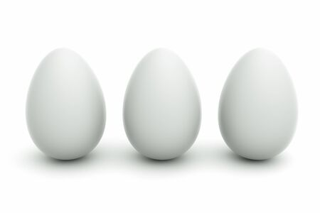 an eggs on white Stock Photo