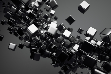 a black cubes abstract background photo