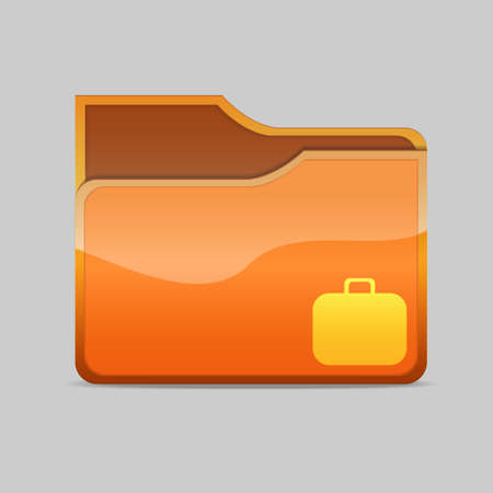 obsolete: a   folder icon with case Stock Photo