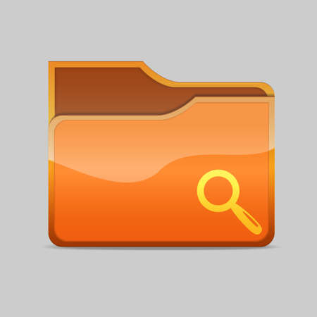 a folder icon with magnifier inside Stock Photo - 16484369