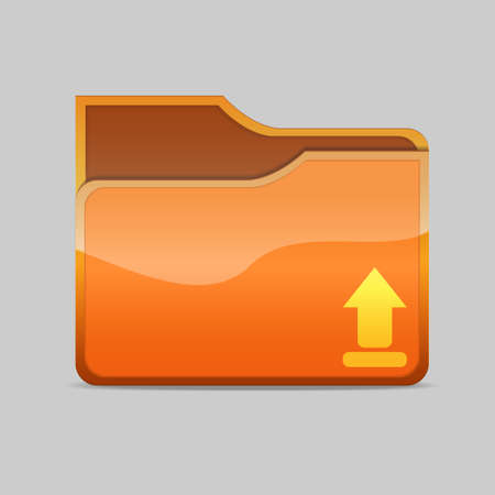 a  folder icon with arrow inside Stock Photo - 16479738