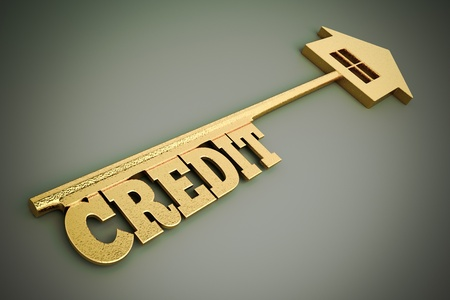 a credit concept on grey Stock Photo - 16484474