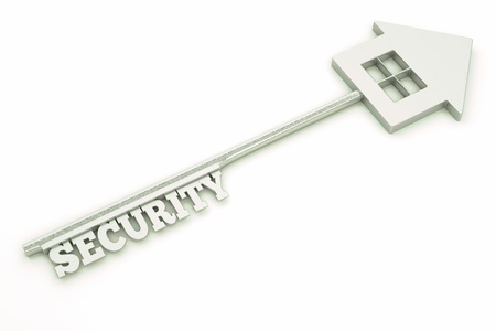 techiques: a house key security concept Stock Photo