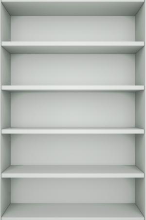 estanterias: una estanter�a con bookshelfs vac�as