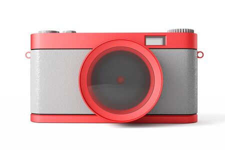 a 3d render of photo camera icon photo