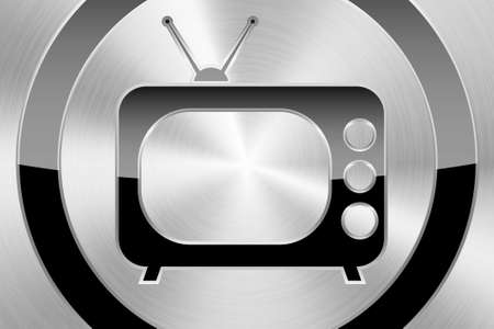 a  icon with tv inside Stock Photo - 16684656