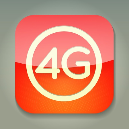 3g: a icon with word 4g Illustration