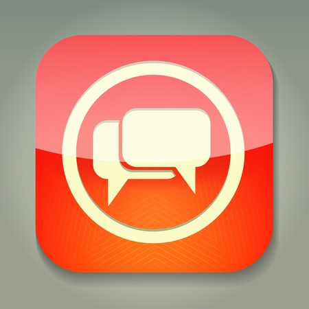 caption: a bubble speech icon