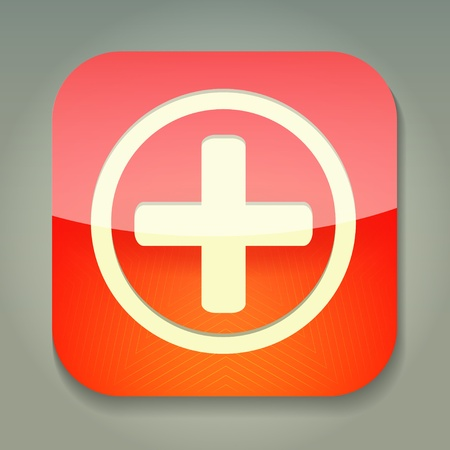 plus icon: a icon with cross Illustration