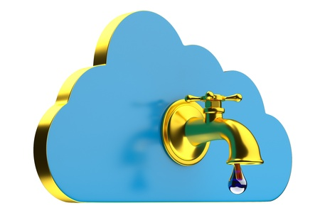 a creative cloud icon with tap Stock Photo - 16820645