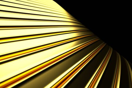 decorration: a 3d render of gold abstract background