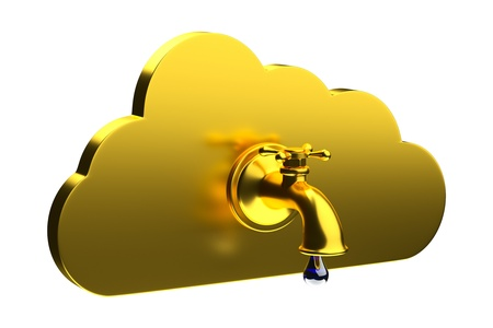 a creative cloud icon with tap Stock Photo - 17124326