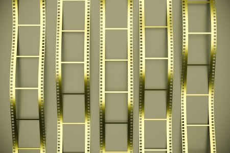 a 3d render of film reel background photo