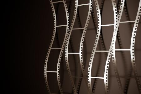 carrete de cine: un render 3d de fondo rollo de pel�cula Foto de archivo