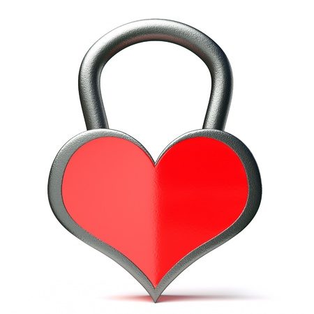 a creative idea with  lock in a heart shape Stock Photo - 17124396