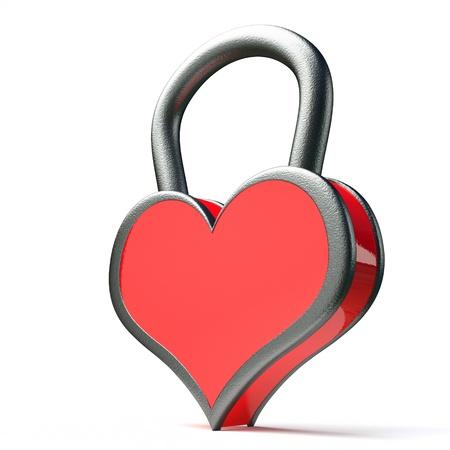 a creative idea with  lock in a heart shape Stock Photo - 17124352