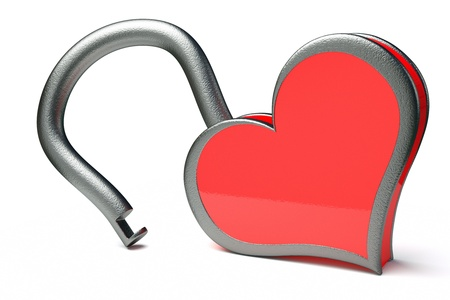 a creative idea with  lock in a heart shape Stock Photo - 17124426