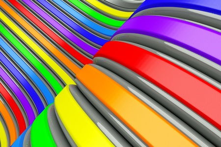 a 3d render of abstract background