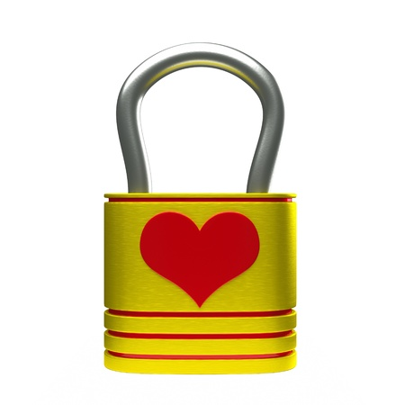 a creative idea with  lock in a heart shape Stock Photo - 17124337