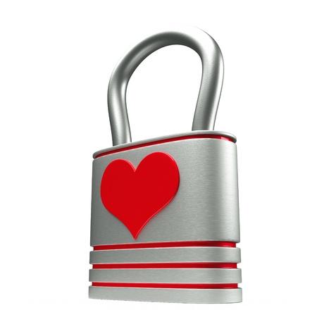 a creative idea with  lock in a heart shape Stock Photo - 17124355