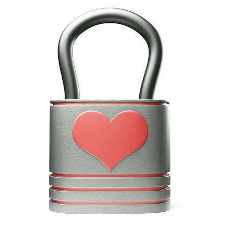 a creative idea with  lock in a heart shape Stock Photo - 17124360