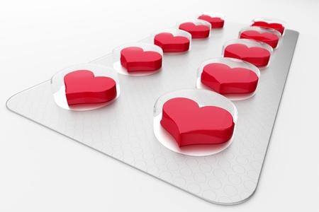 a 3d render of love pills