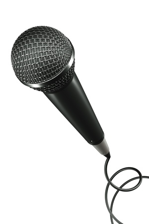 a 3d render of voice mic Stock Photo - 17124329