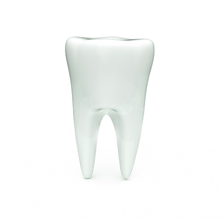carious: a 3d render of tooth isolated on white