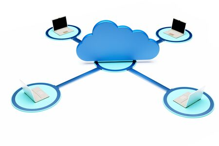 a cloud computing concept, 3d render  Stock Photo - 17370100