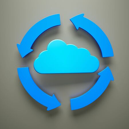 a cloud computing concept, 3d render  photo