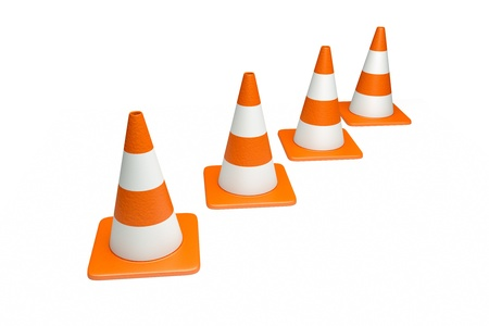 redirect: a creative 3d render of road cone