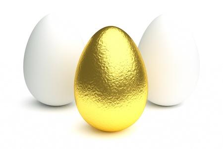 rare background: a golden egg