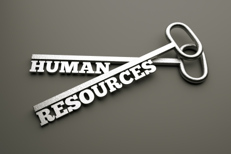 human resource: a creative idea with keys Stock Photo