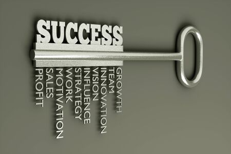 prosperous: a key with word success, busines concept Stock Photo