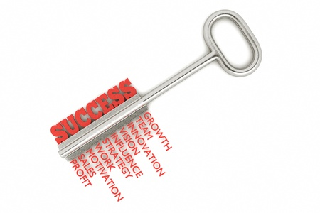 key words: a key with word success, busines concept Stock Photo
