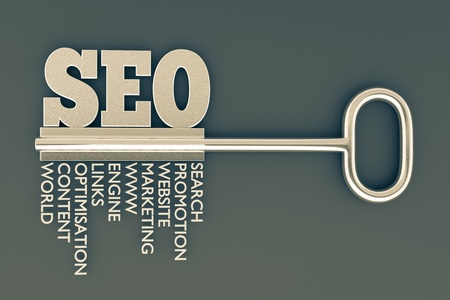 keywords: a seo concept with key