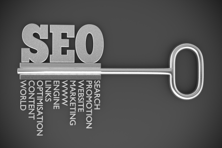a seo concept with key Stock Photo - 18013465