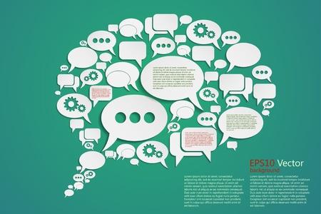 creative vector bubble speech background, eps10 concept or idea Stock Vector - 18848201