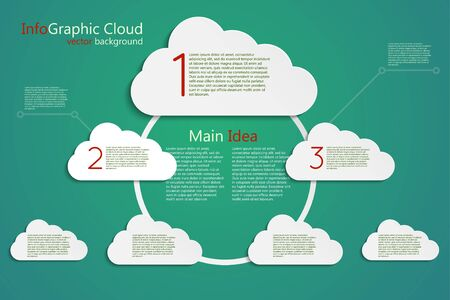 infographic vector background, main idea cloud concept, center stage Stock Vector - 18848197